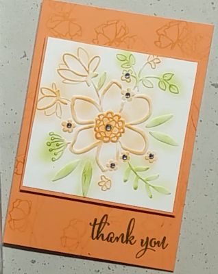 Stampin Up! Lovely Floral Deep Impressions Embossing Folder & the Love What you do Stamp Set