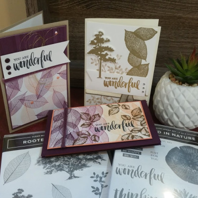 Stampin Up! Rooted In Nature Card Set Stamping with DonnaG!