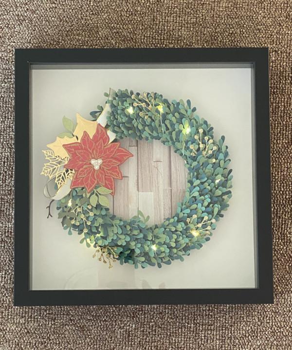 Shadowbox wreath